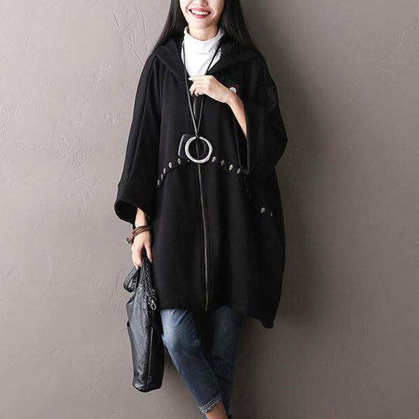Loose Hooded Cardigan Jacket