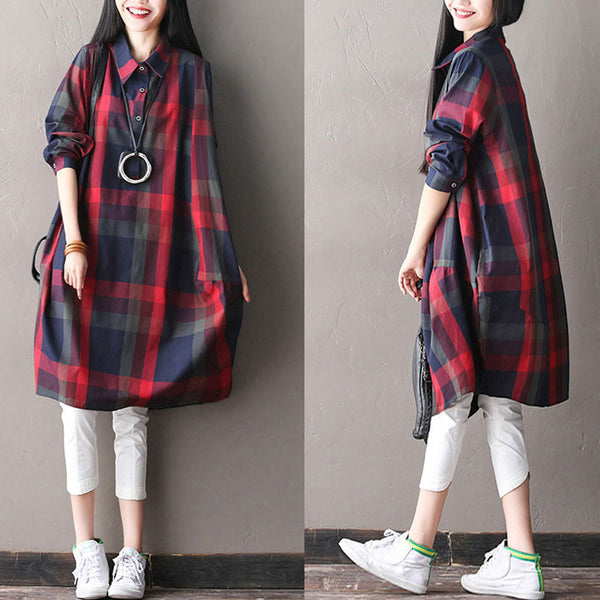 Spring Women Lattice Bat Sleeves Dress