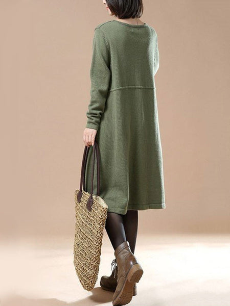 Casual loose cotton Knitted sweater