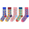 3 Pieces Cartoon Print Winter Women Casual Long Socks