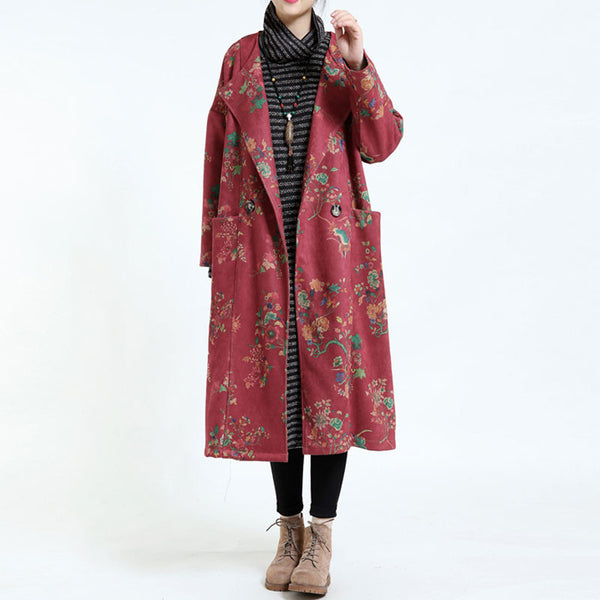 Women's Loose Winter Coat Deerskin Windbreaker Overcoat