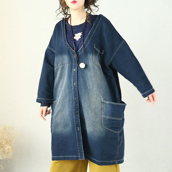 Spring Women's Retro Denim Coat