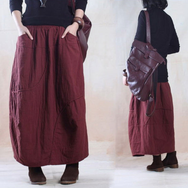 Loose Cotton Skirt