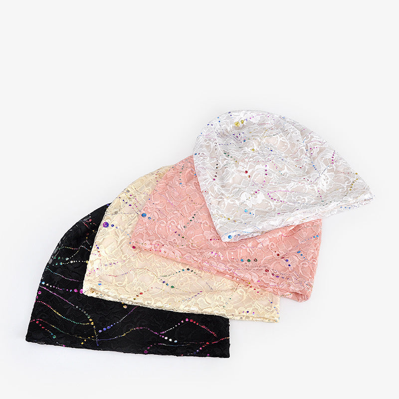 Spring Hollow Lace Thin Women Adult Hat