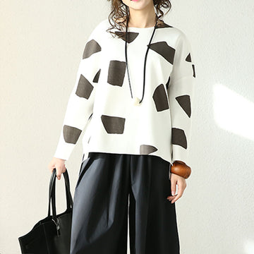 Women Casual Loose Spring Shirt - Buykud