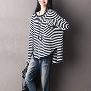 Autumn Stripe Design Long Sleeves Casual Women Shirt - Buykud
