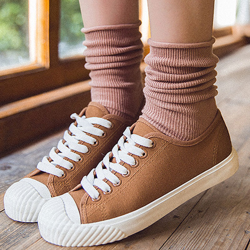 Cotton Knitted Casual Keep Warm Women Pile Stocking - Buykud