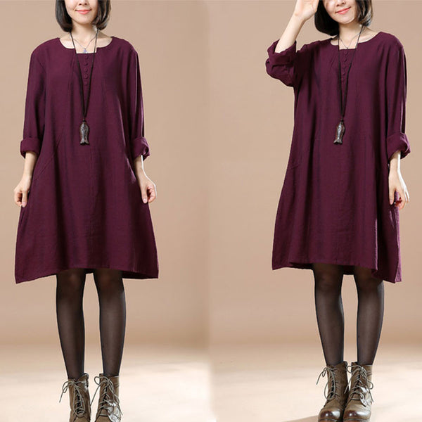 Autumn Ladies Long Sleeve Casual Dress - Buykud
