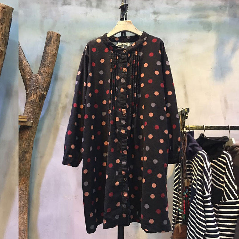Black Cotton Loose Dress