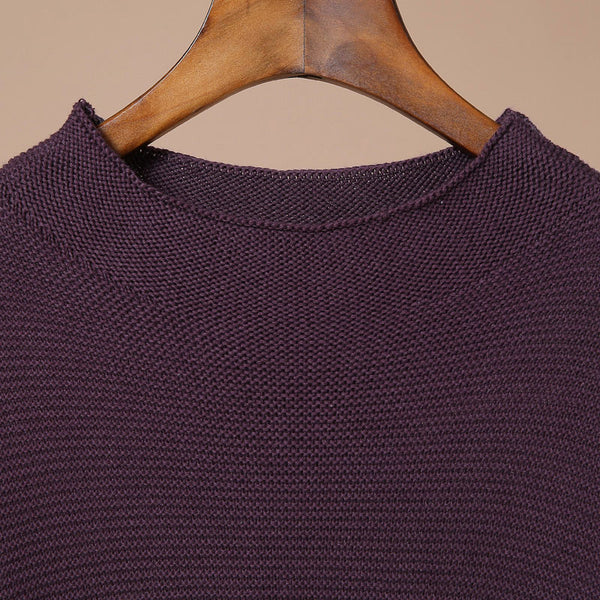 Loose Round Neck Long Sleeved Sweater