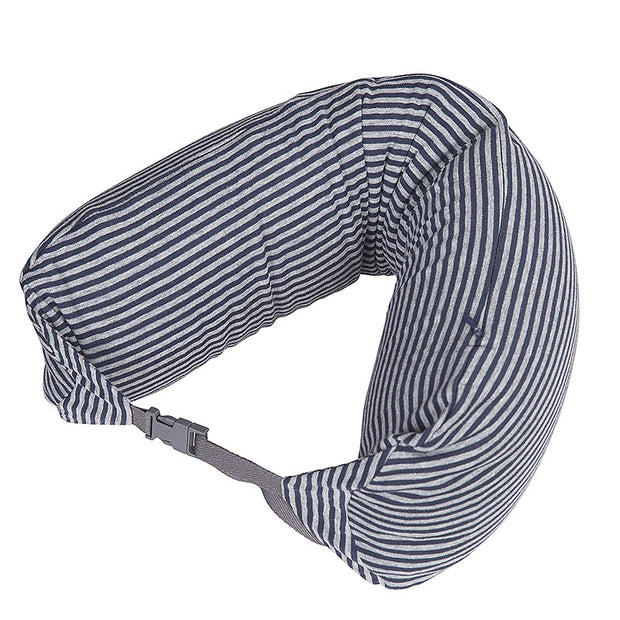Soft Stripe U Shape Cotton Travel Pillow