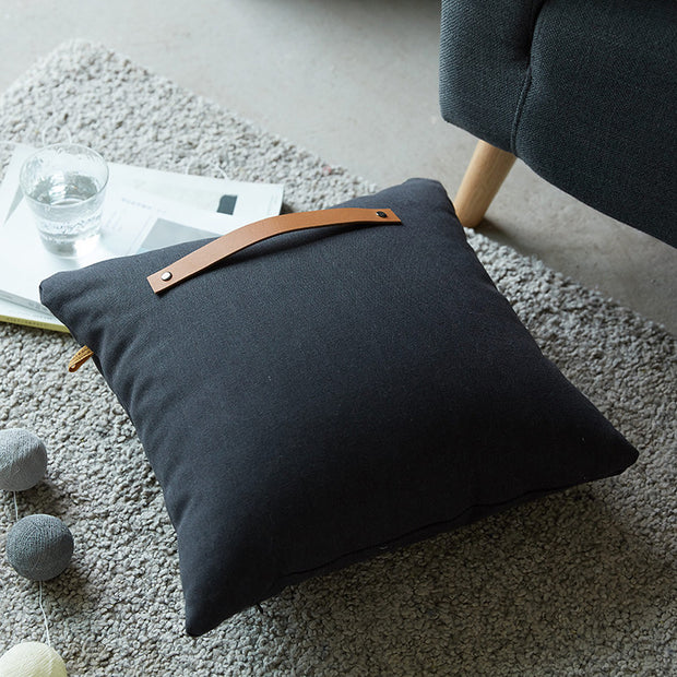 Soft Cotton Polyester Square Shape Belt Pillow