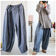 Casual Style Spring Plain Lantern Pants