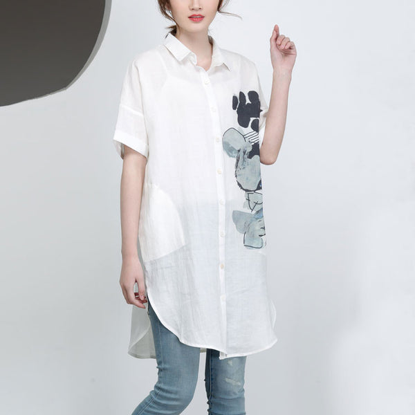 Casual Women Summer Short Sleeves Shirt