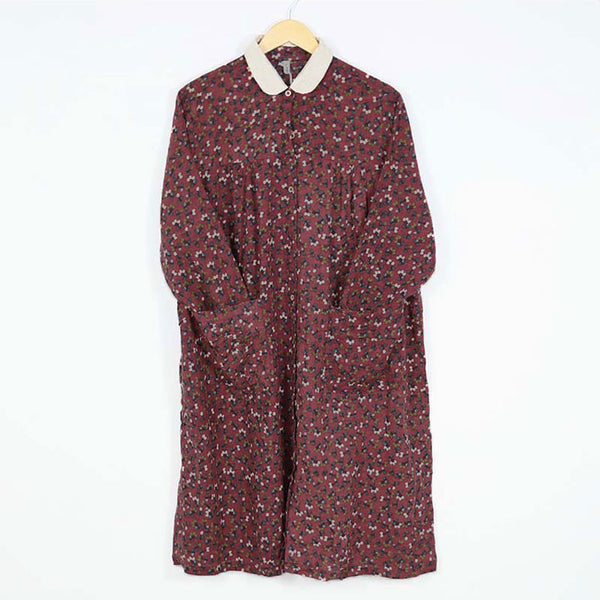 Women's Autumn Long Sleeve Shift Dress With Pockets