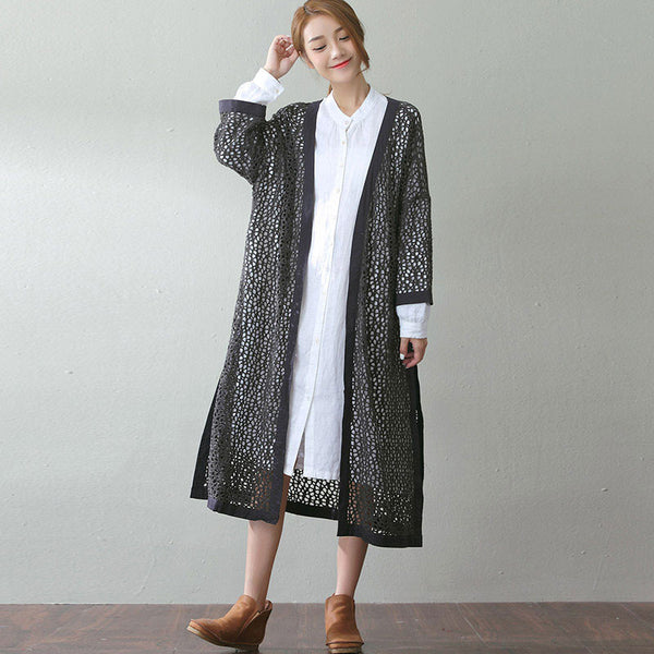 Spring And Autumn Hollow Knitting Outerwear