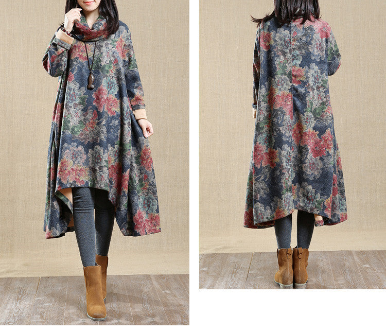 Women Long sleeve autumn dress - Buykud