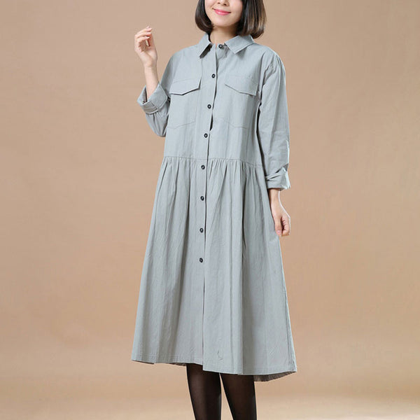Spring Elegant Long Sleeves Light Green Dress