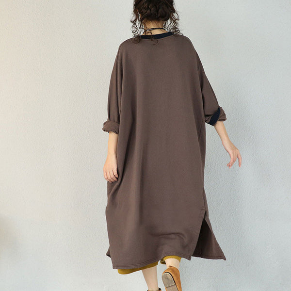 Brown Loose Casual Dress