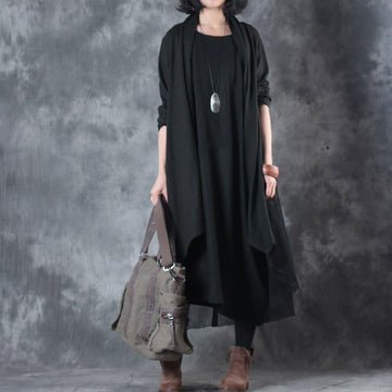 Spring Women Sleeveless Dress Long Sleeve Cardigan Coat - Buykud