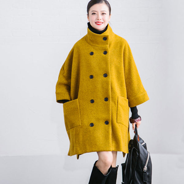 Loose Woolen Jacket Coat - Buykud