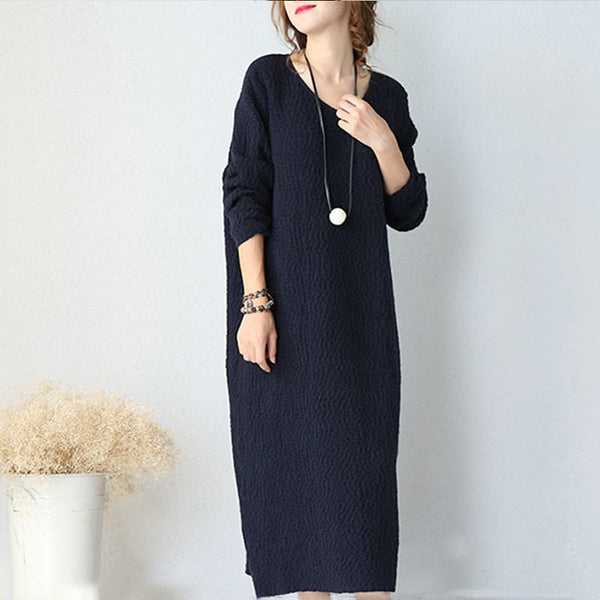 Women Casual Loose Cotton Dress