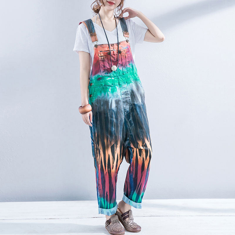 Casual Women Colorful Denim Jumpsuits - Buykud