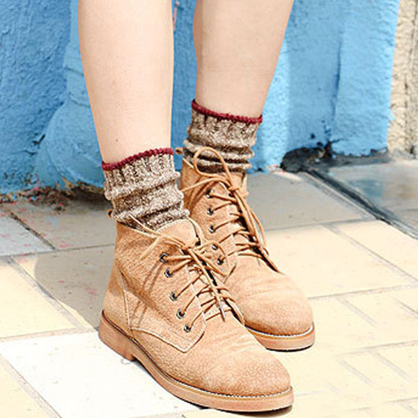 Keep Warm Cotton Knitted Casual Women Pile Stocking - Buykud