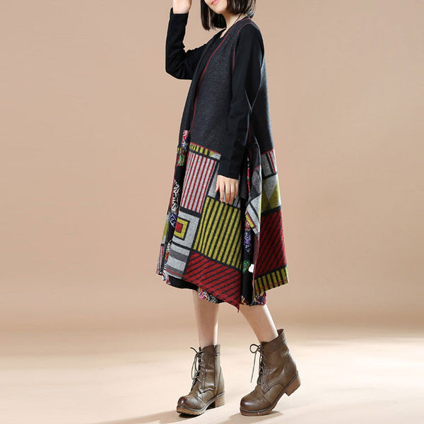 Sleeveless Printed Wool Jacket