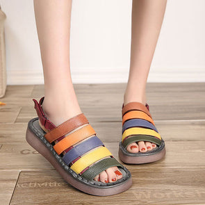 Summer Beach Thick Bottom Casual Multicolor Sandals