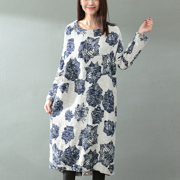 Cotton Printed Dress - Buykud