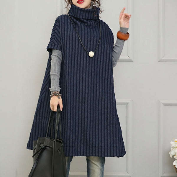 High Collar Stripe Jacket