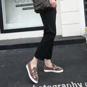 Casual Totem Crystal Loafers Single Shoes