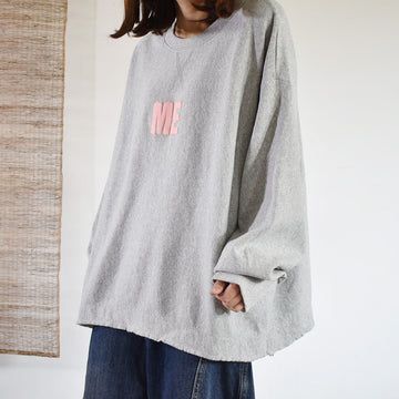 Buykud Letter Printed Loose Long Sleeve Blouse