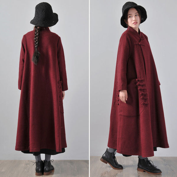 Women 's Woolen Winter cape coat