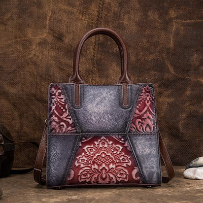 Multicolor Leather Retro Women Handbag