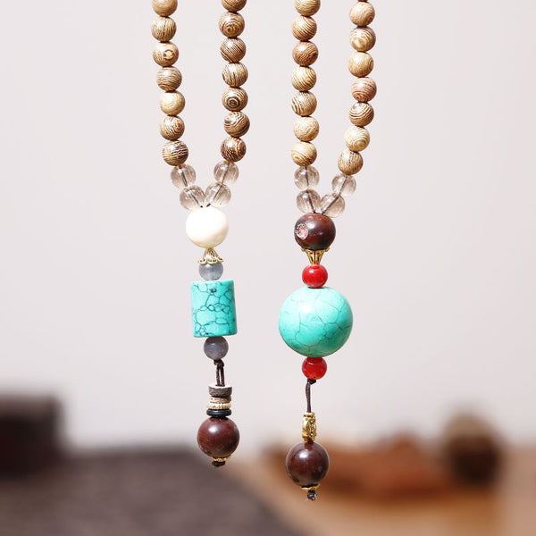 Retro Wooden Casual Women Necklaces - Buykud
