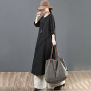 Casual Long Sleeve Spliced Women Dress