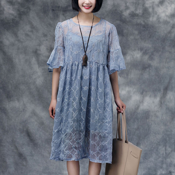 Summer Short Sleeve Casual Two-Piece Dress