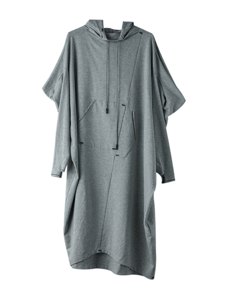 Plus Size Women Casual Loose Long Sleeve Dress