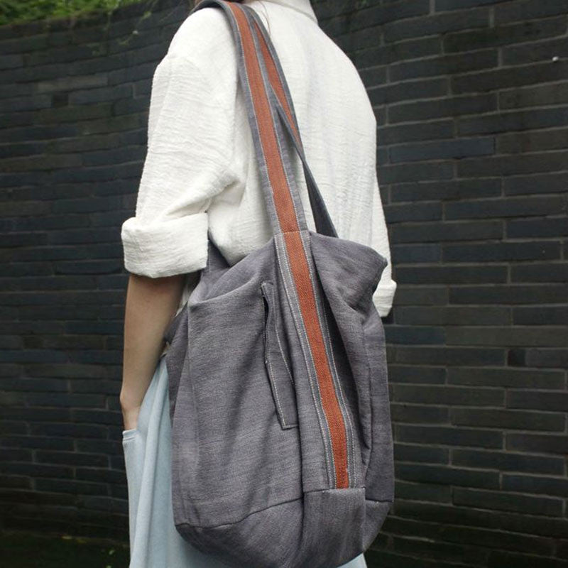 Brown Tie Dye Denim Shoulder Bag