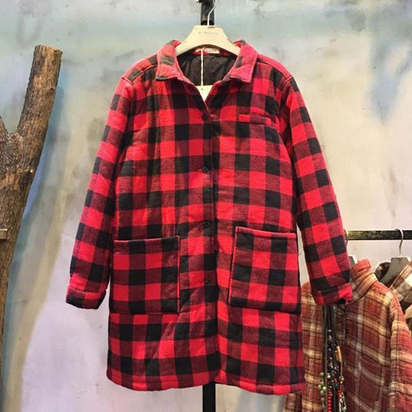 Pocket Cotton Plaid Shirt