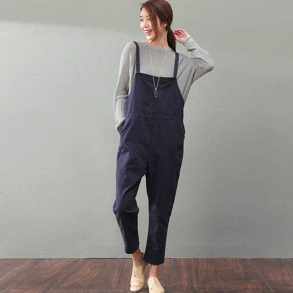 Spring Cotton Loose Overalls