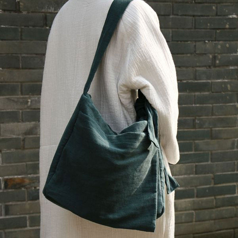 Irregular linen Shoulder Messenger Bag