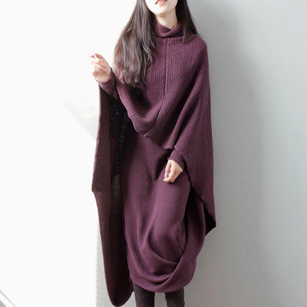 Women Knitting Retro Cotton Dress