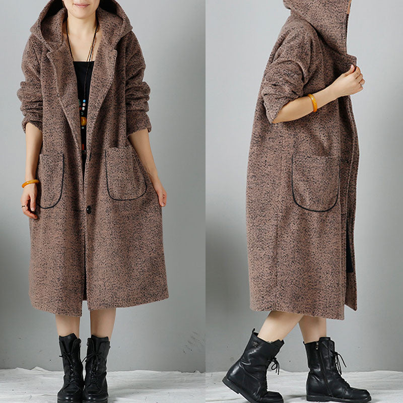 Women Hooded woolen Coat