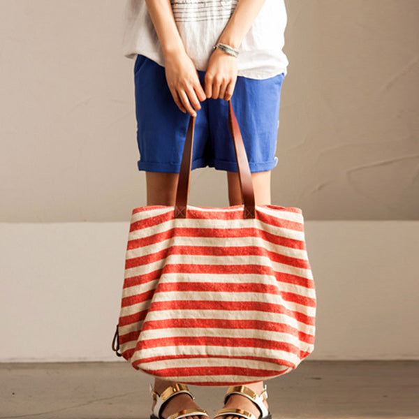 Women Casual Stripe Red Shoulder Bag