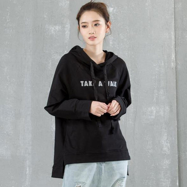 Casual Loose Spring Cotton Hooded Pllover