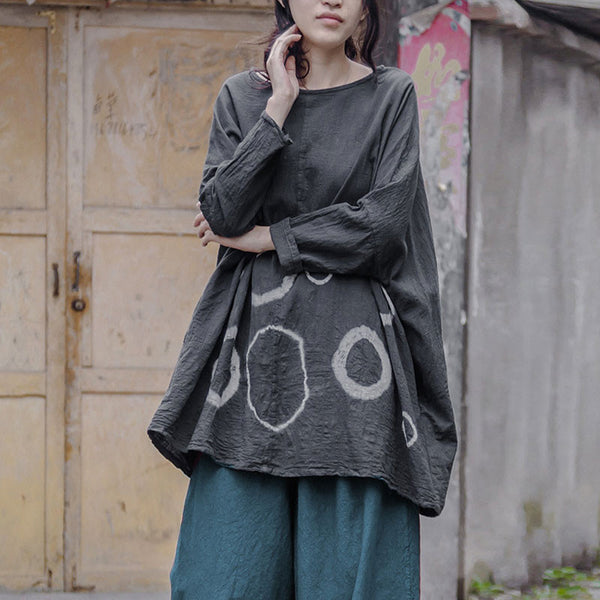 Cotton Women Linen Loose Casual Shirt