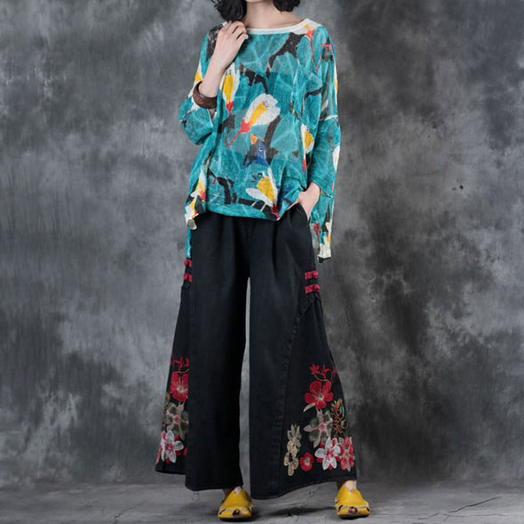 Summer Round Neck Three Quarter Sleeve Printed Shirt - Buykud